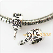 15 New Clouds Tibetan Silver Bail Bead Fit Bracelet Chrams Connectors 8x12mm