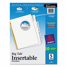 Avery Insertable Big Tab Dividers 5 Tab Letter 11122