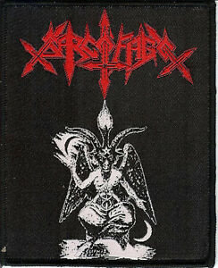 Sarcofago Baphomet Patch Sepultura Beherit Blasphemy Possessed Hellhammer Venom
