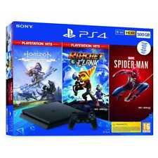 PS4 500GB + 3 JUEGOS: HORIZON ZERO DAWN - RATCHET & CLANK - SPIDERMAN