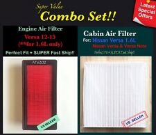 For VERSA 2012-2016 VERSA NOTE QUALITY ENGINE AND CABIN AIR FILTER AF6202 C35865