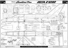 GRAUPNER DELTA X1200 R/C SPORT MODEL PLANS