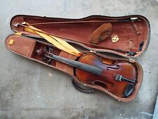 VINTAGE FIRST NATIONAL INSTITUTE OF ALLIED ARTS FNAA VIOLIN IN CASE W/2 BOWS NR