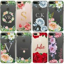 Rose Initial Phone Case, Personalised Flower Clear Hard Cover For Samsung S