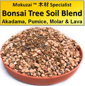 1-3L Bonsai Trees Soil Potting Mix: Akadama, Pumice, Moler & Lava Rock Pot Blend