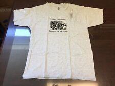 Rastafari Haile Selassie Defender Of Faith Gun T-Shirt Med Gray Vintage NOS