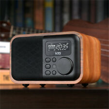 Mini Wooden Digital Speaker bluetooth FM Radio Alarm Clock With Remote Control