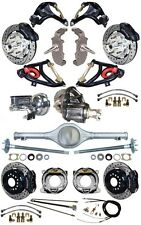 """NEW 2"""" DROP SUSPENSION & 12"""" WILWOOD BRAKE SET,CURRIE REAR END,ARMS,POSI,555773"""
