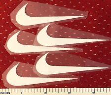 5 White NikeIron On Logos 3 Inches Wide Five Iron On Logo Lot