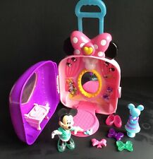 DISNEY MINNIE/MICKEY MOUSE SINGING LIGHT UP TALKING PULL ALONG TOY SUITCASE