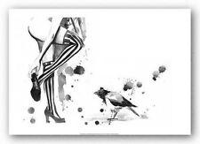 ROCK ART PRINT White Stripes Lora Zombie