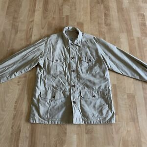 Men's Travel Smith Beige Safari Jacket Size Medium