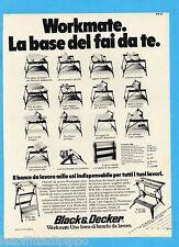 QUATTROR980-PUBBLICITA'/ADVERTISING-1980- BLACK & DECKER WORKMATE