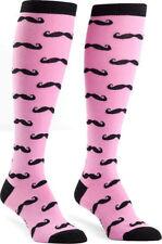 2 Pairs PINK Designer SOCKS Cotton Knee High Sexy Novelty Women Girls Gay Shoe