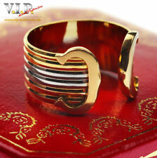 CARTIER RING DOUBLE-C-LOGO TRINITY BAND 18K/750 TRICOLOR GOLD Gr.55 BAGUE ANELLO