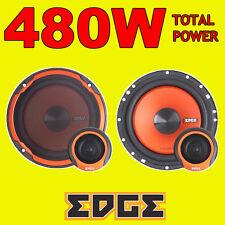 EDGE 480w totale 2way 6.5 pollici 16.5cm auto altoparlanti componente 2way Porta + Tweeter