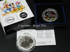 10 Mickey et Minnie Argent Colorisé Pp Proof