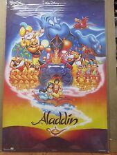 vintage Walt Disney Pictures Aladdin Poster cartoon disney movie 12335