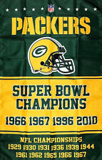 Green Bay Packers NFL Super Bowl Championship Flag 3x5 ft Banner Man-Cave New