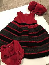 The Children's Place girls 18month red/black holiday/christmas dress, FREE SHIP!