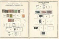 Ivory Coast Collection 1892 to 1974 on 33 Minkus Specialty Pages