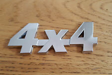 Silver Chrome 3D 4X4 Metal Badge Sticker Emblem for Kia Sorento Carens Magenitis