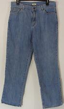 LL Bean Women's Jeans Size 14 Regular Light Wash Denim Stretch Straight Leg EUC!
