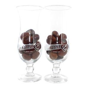 2x De KUYPER Pina Colada Glas Cocktail Gläser Set Longdrink Likör groß Bar Neu