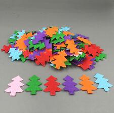 100pcs Mix Christmas tree shape Die Cut Felt Cardmaking decoration Appliques
