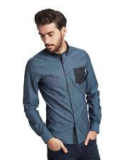 Mish Mash Men's Designer Navy Desire Long Sleeve Smart Casual Shirt RRP £50