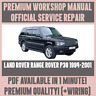 *WORKSHOP MANUAL SERVICE & REPAIR GUIDE for LAND ROVER RANGE ROVER P38 1994-2001
