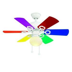 Hampton Bay Minuet III 36 in. White Ceiling Fan with light