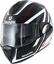 SHARK EVOLINE 3 HYRIUM KWR BLACK/RED MOTORCYCLE HELMET - LARGE