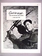 Japanese Soldier with Samarai Sword PRINT AD - 1945 ~WWII U.S. Treasury War Loan