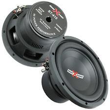2x SoundXtreme St-410 10 Inch 3000 Watt Car Audio Subwoofer Dvc Power