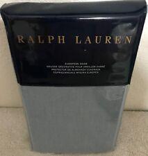 """Ralph Lauren European Sham Madalena Wetherly Linen 26 x 26"""" Sky Blue 5 Buttons"""