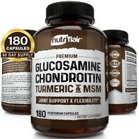 Glucosamine Chondroitin Turmeric & MSM 180 CAPSULES - Bones, Joint Support Pills