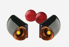 DONNIE SMITH TURN SIGNAL LIGHTS BLACK AMBER & RED 1-FIL SURFACE MT HARLEY BOBBER
