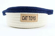 Midlee Cat Toy Rope Cotton Basket