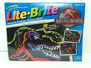 LITE BRITE Jurassic Park III Refill Pack Pages SEALED New Hasbro Picture Refill