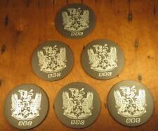Set of 6 VTG BBC Coat of Arms Slate Coasters British Broadcasting Company