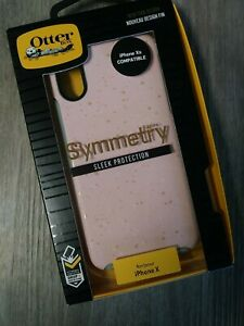 Otterbox Symmetry Case For IPhone X - Pink & Gold Design