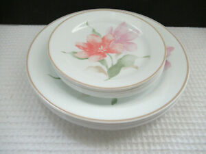 Vintage Corelle USA PACIFICA LOT OF 6 DINNER & 6 DESSERT PLATES Preowned