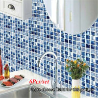 Tile Ceramic Wall Sticker 3D Kitchen Bathroom Waterproof Mural Decals Wallpaper