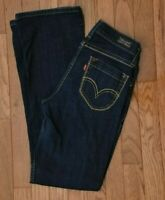 Levi's 529 Women's Jeans Curvy Bootcut Low Rise Dark Wash  Size 4 Med