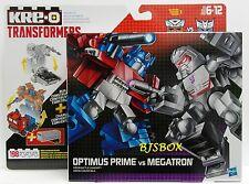 KRE-O Transformers Kreon Battle Changers Optimus Prime VS Megatron 2 Pack New
