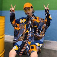 Lady Shirt Blouse Baggy Top Harajuku Tee Oversize Casual Long Sleeve Fashion New