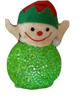 "Christmas Elf Santa's Helper 4"" accent Light multi rotating color Led Decor"