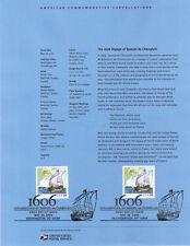 #0630 39c Voyage of Champlain #4073 USPS Souvenir Page