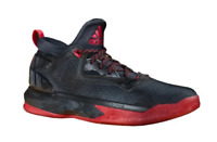 adidas D Lillard 2 Men's Basketball Shoes Black/Scarlet size US 11